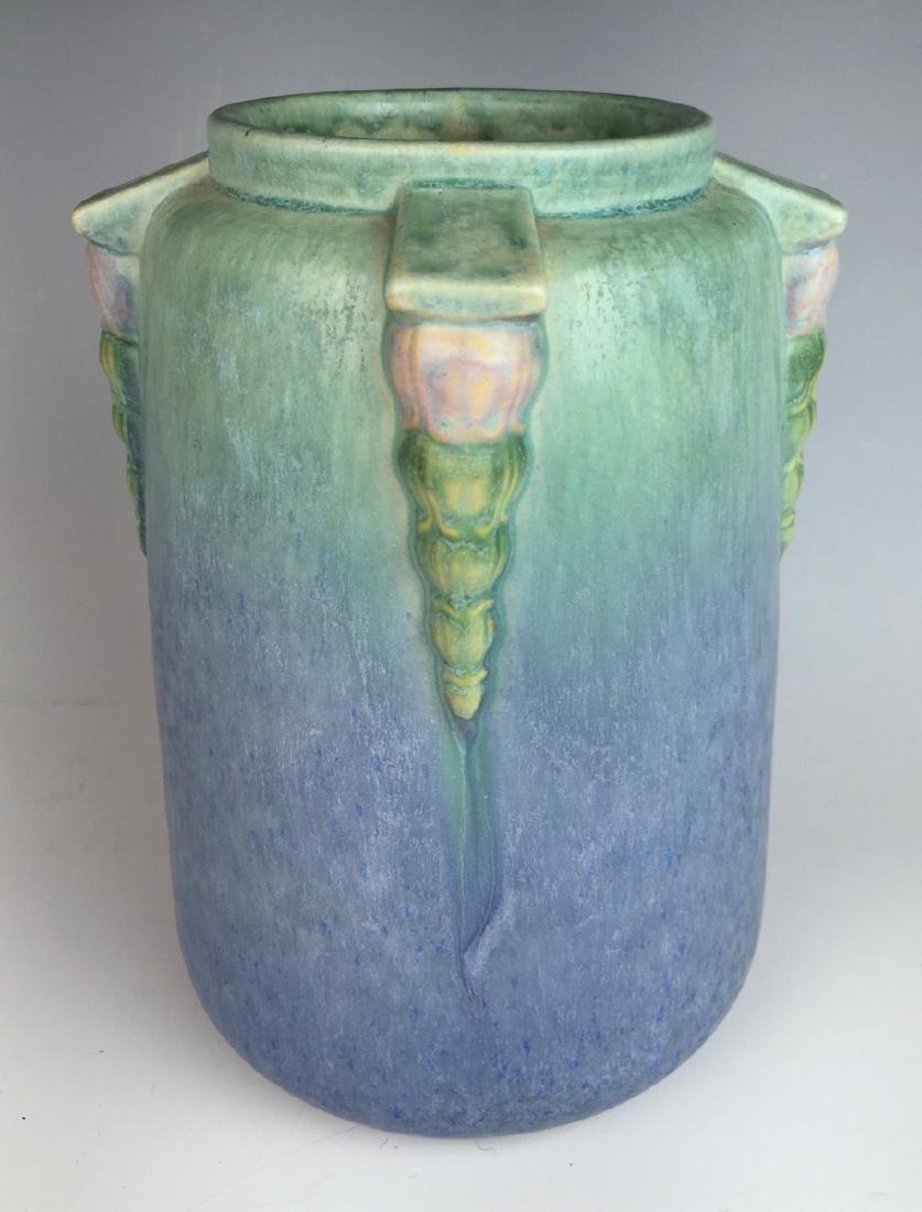 Roseville Blue Topeo Vase C. 1934