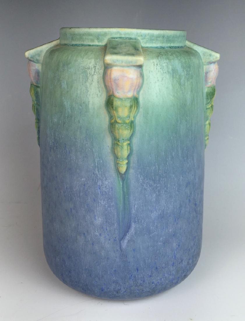 Roseville Blue Topeo Vase C. 1934 - 2