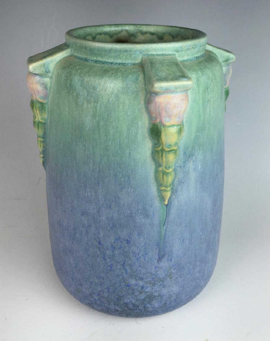 Roseville Blue Topeo Vase C. 1934 - 3