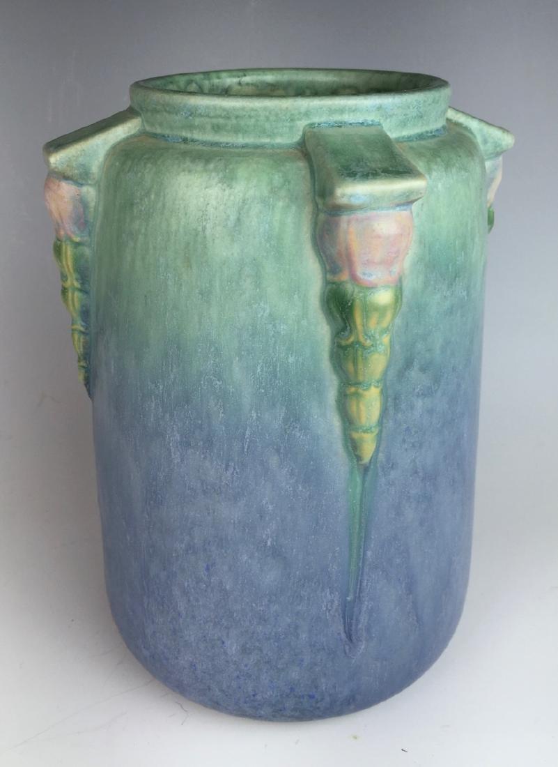 Roseville Blue Topeo Vase C. 1934 - 4