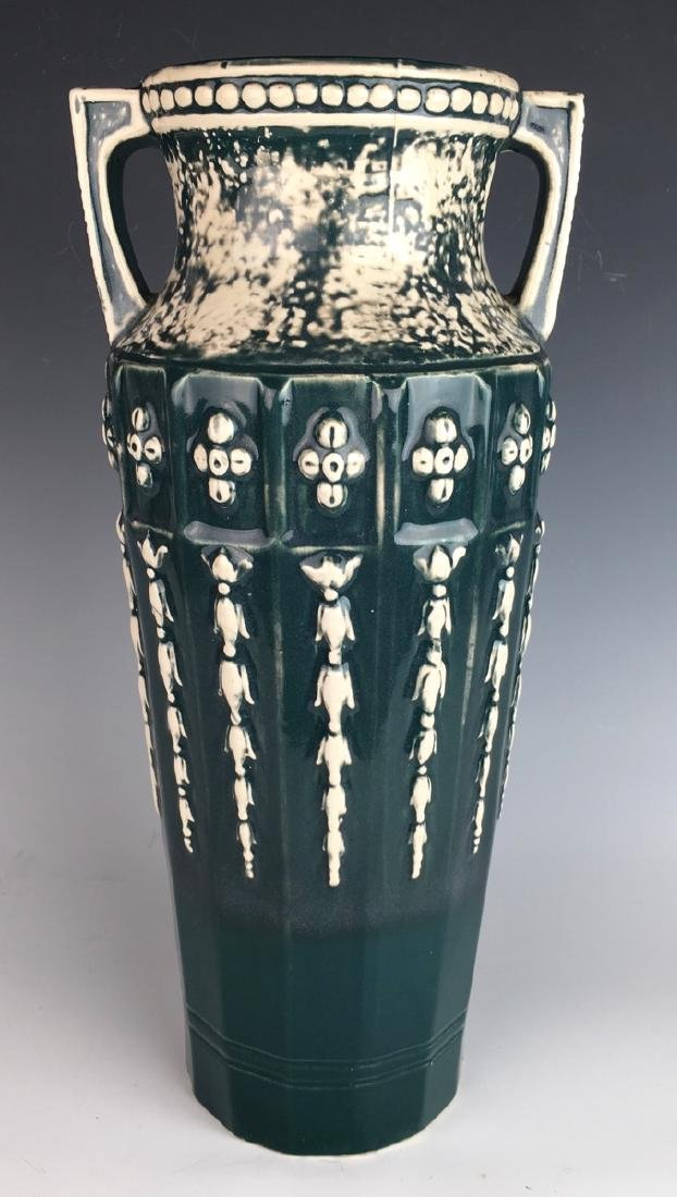 Red Wing Art Pottery Handled Vase #157