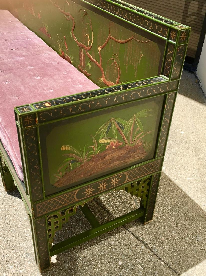 Asian Chinoiserie Style Bench C. 1920's - 3
