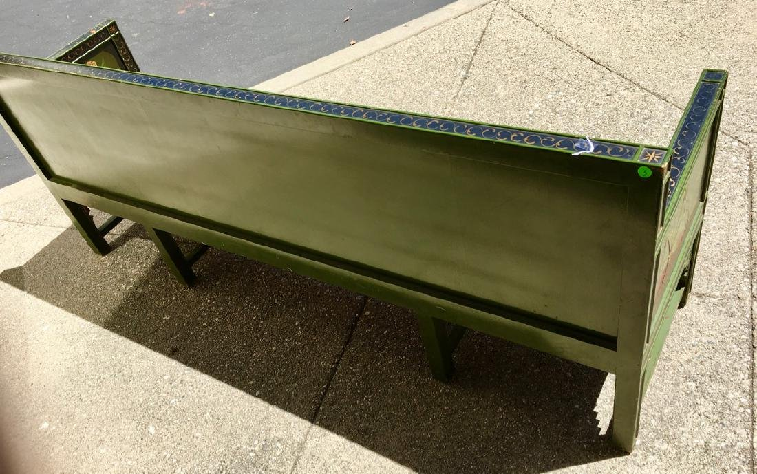 Asian Chinoiserie Style Bench C. 1920's - 4