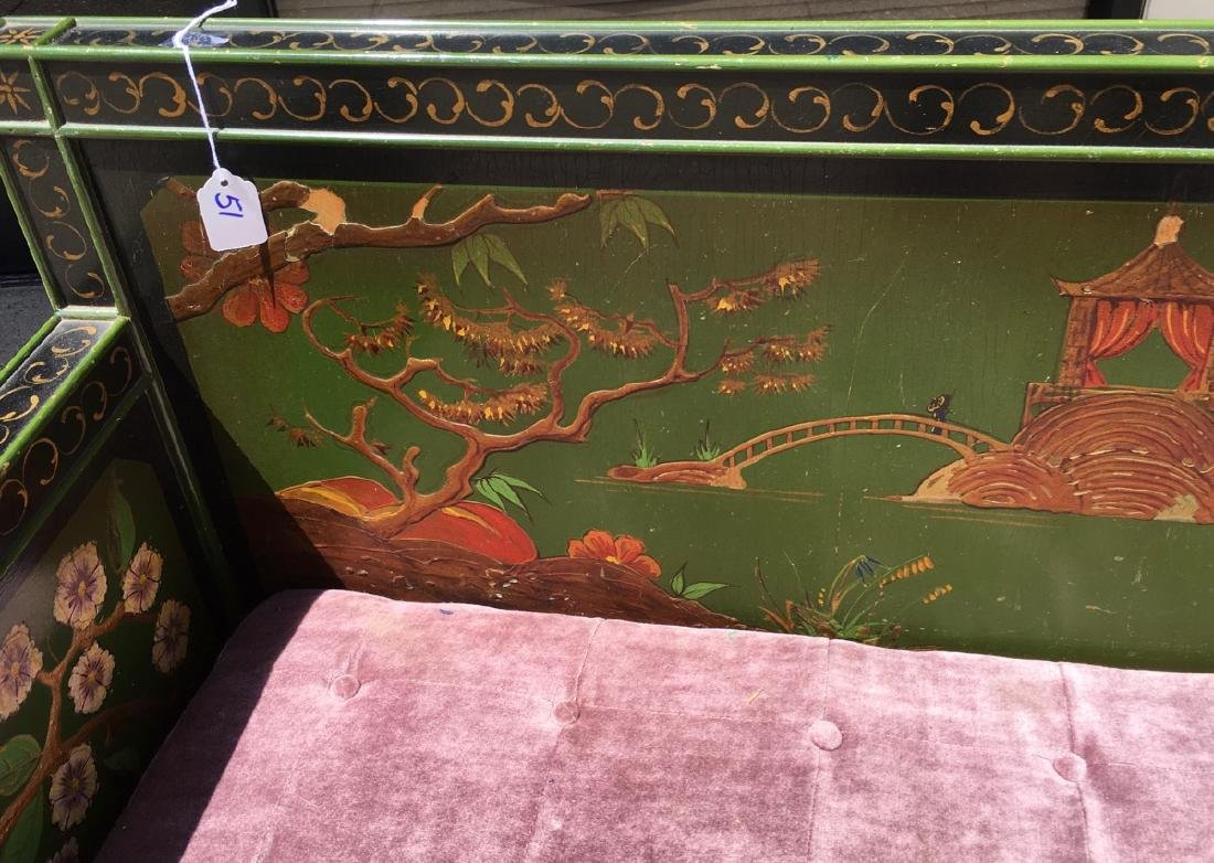 Asian Chinoiserie Style Bench C. 1920's - 5