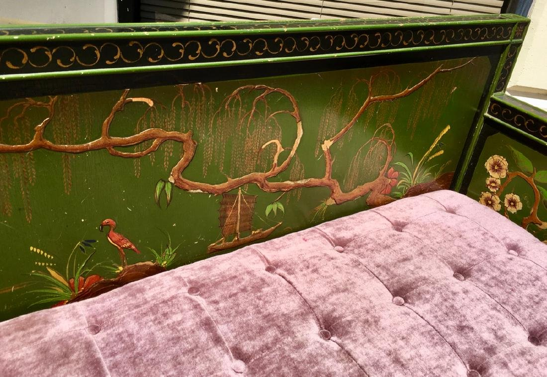 Asian Chinoiserie Style Bench C. 1920's - 6