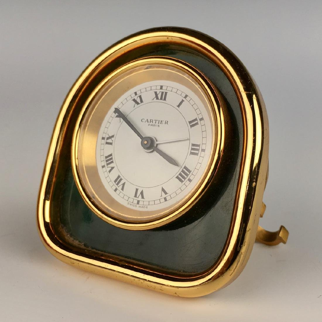 Desk Clock by Cartier, Gold Plated Case - 3