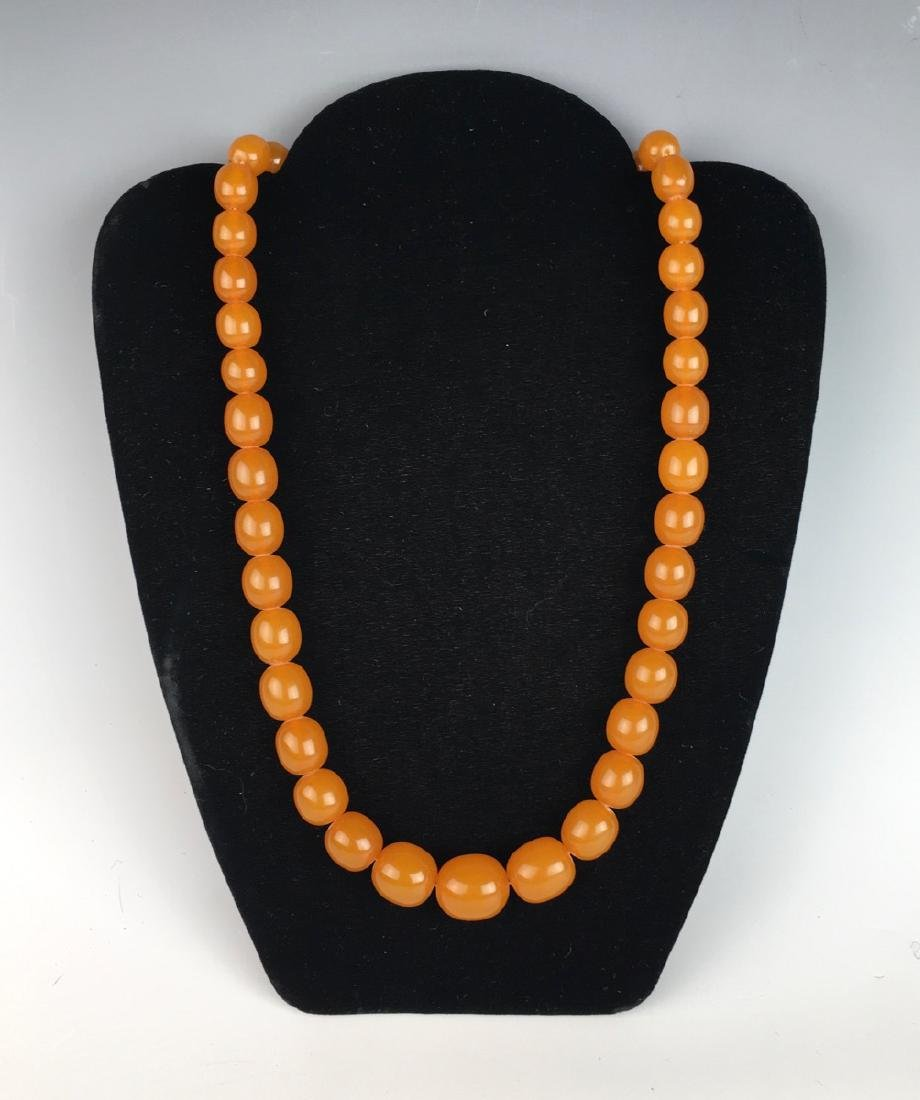 Vintage Natural Butterscotch Amber Bead Necklace