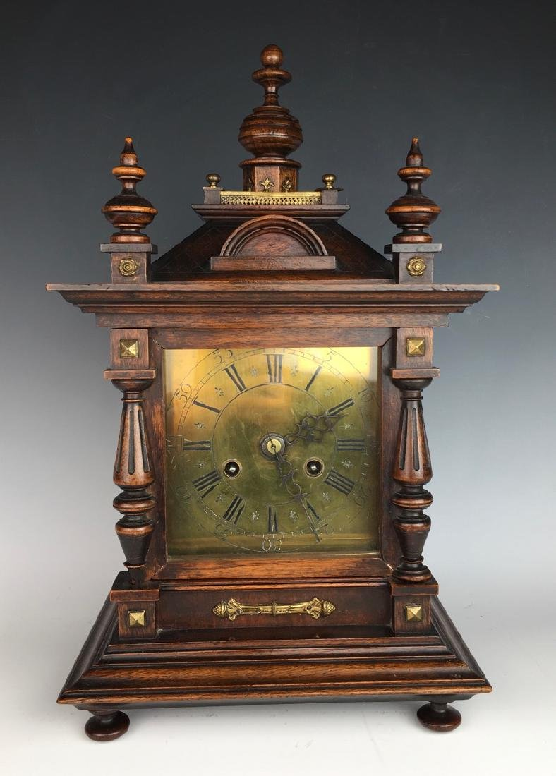 Antique Walnut Clock Made by Junghan Company