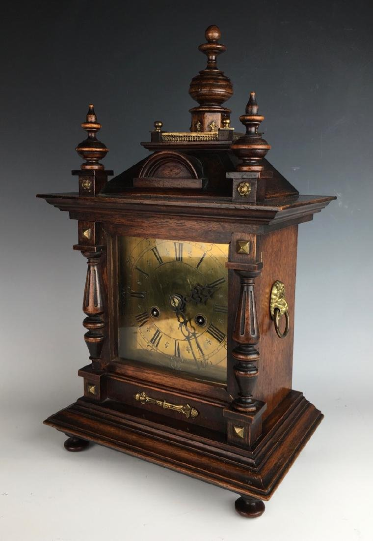 Antique Walnut Clock Made by Junghan Company - 2