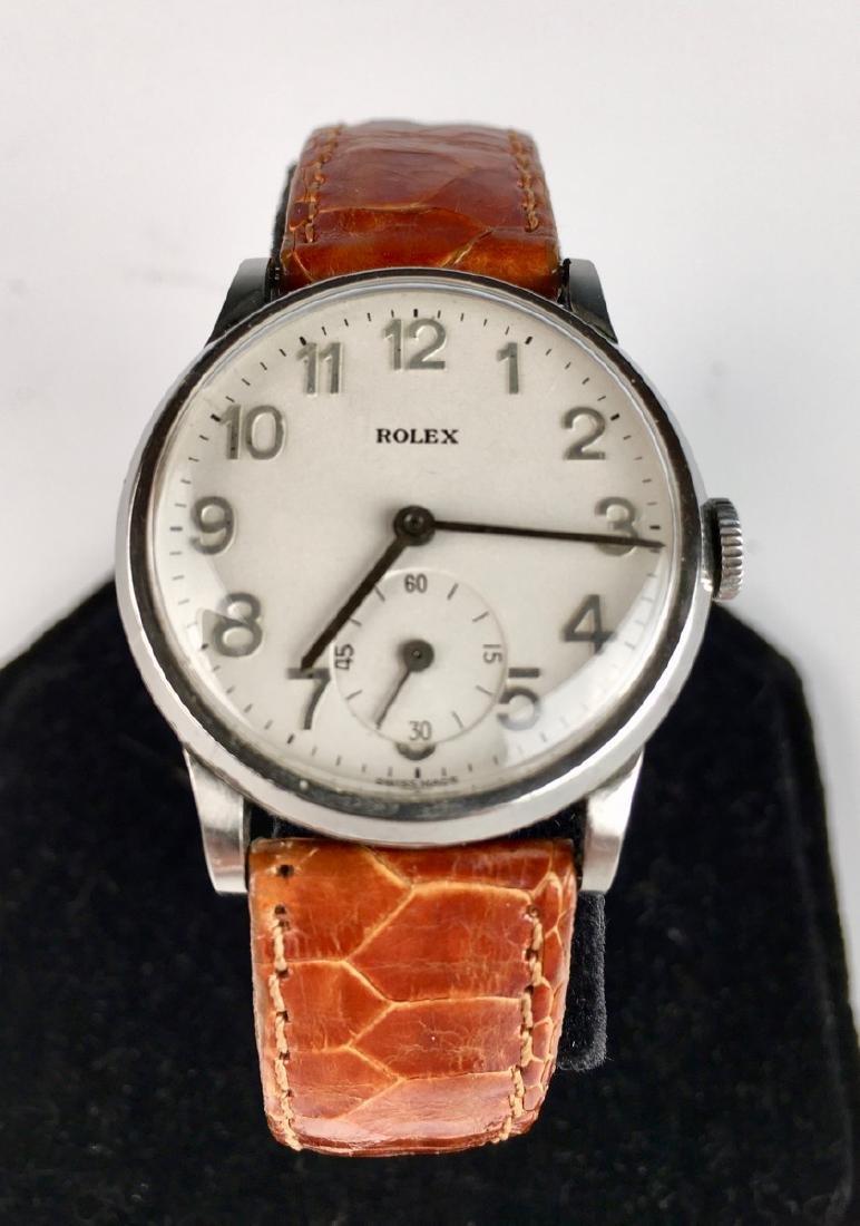 Rolex Stainless Steel 17 Jewels Wrist Watch