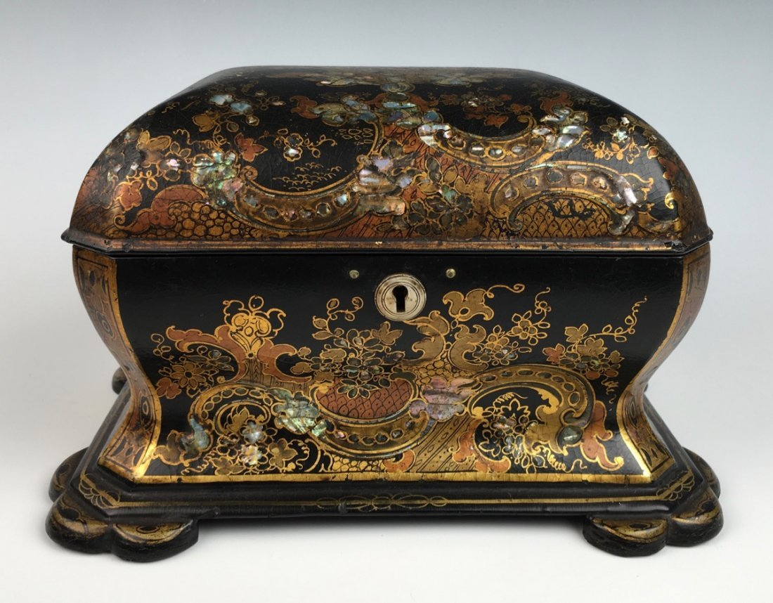 Chinoiserie Lacquerware Teabox