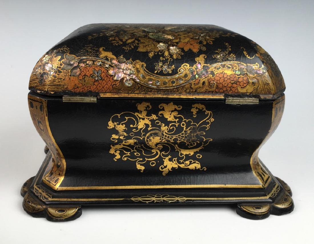 Chinoiserie Lacquerware Teabox - 4