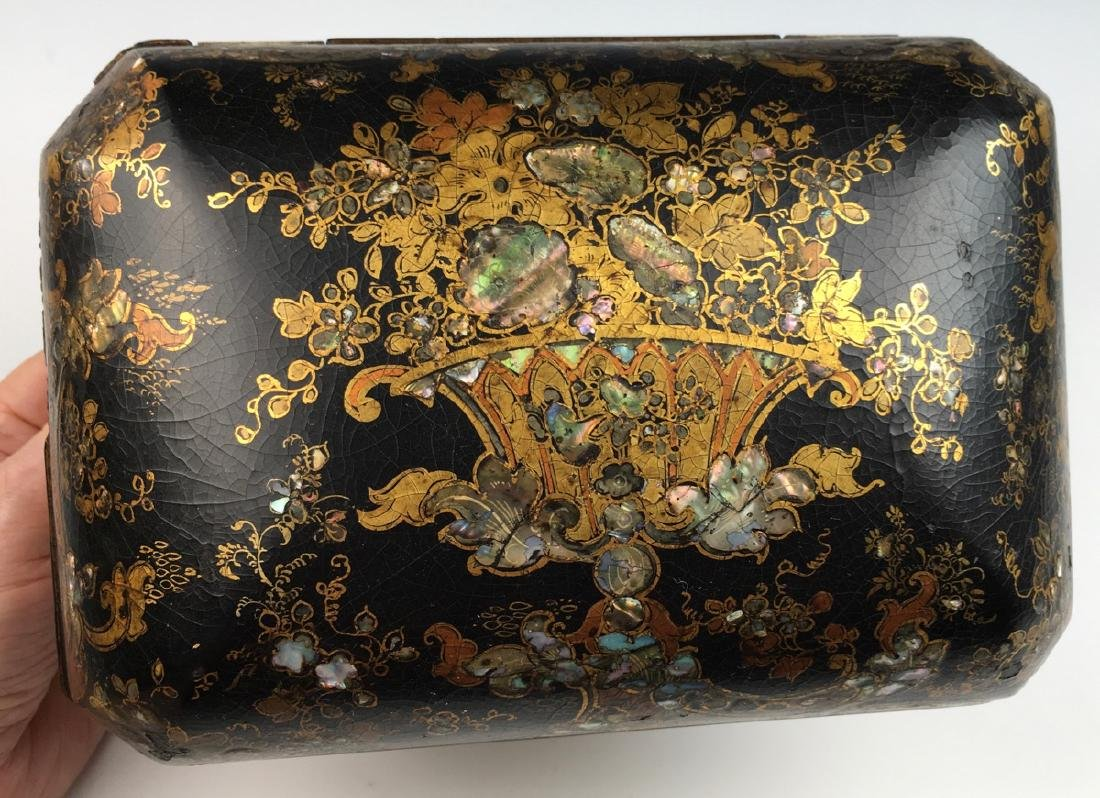 Chinoiserie Lacquerware Teabox - 5