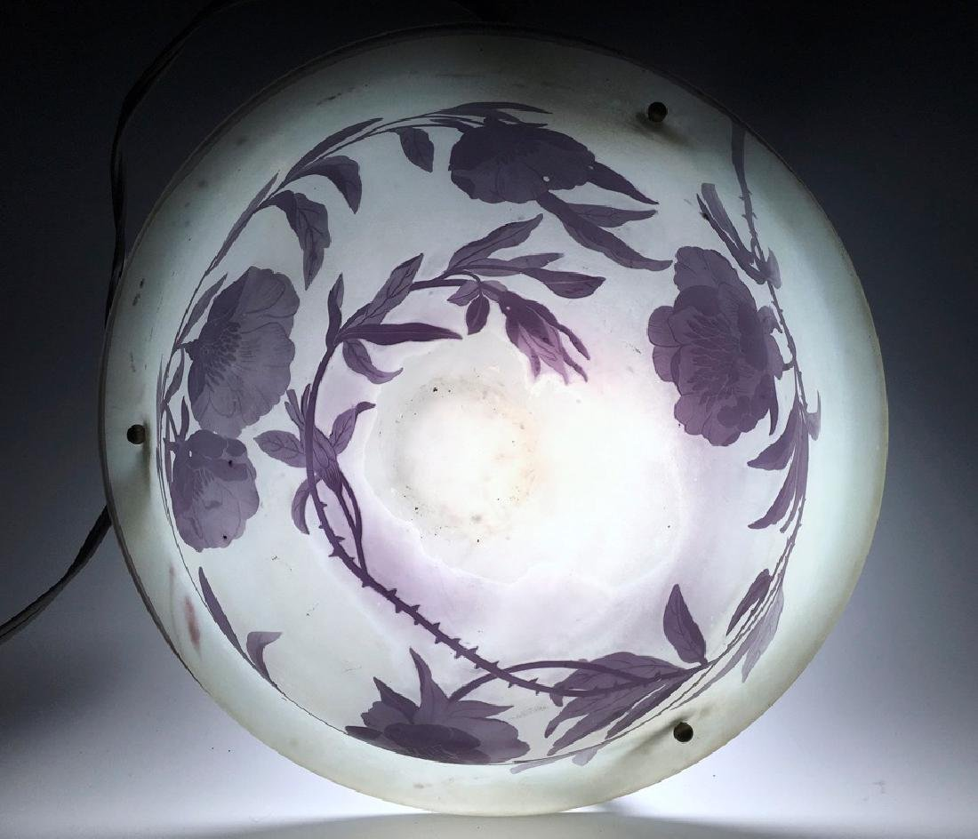 Daum Nancy Cameo Glass Hanging Lamp - 3