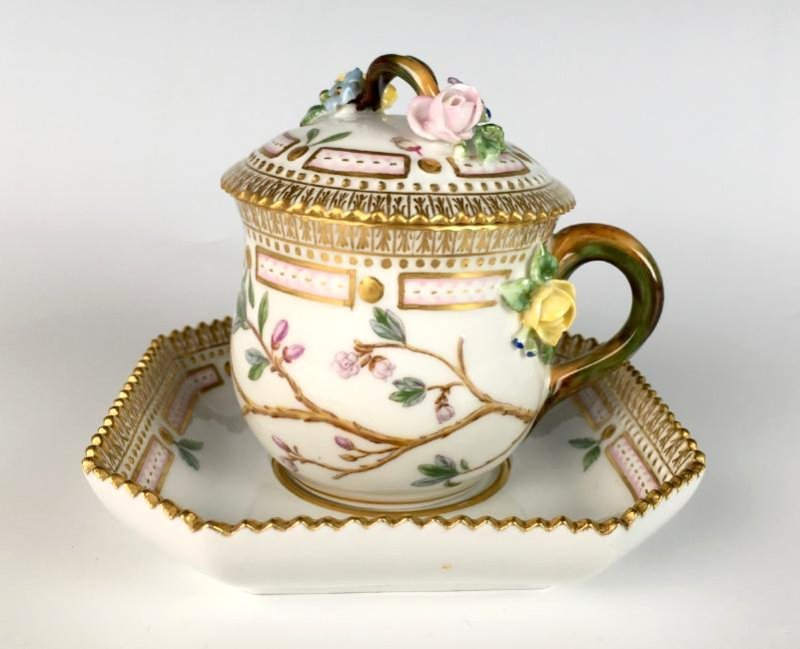 Flora Danica Covered Cup and Saucer - 2