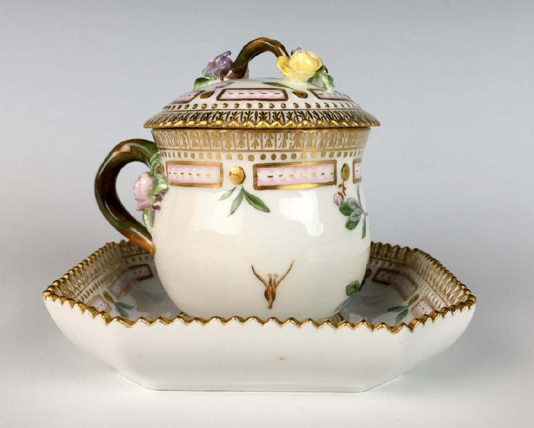 Flora Danica Covered Cup and Saucer - 3