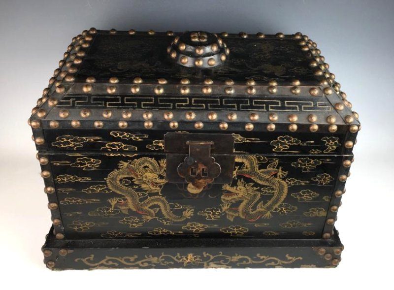 Japanese Chest with Metal Studs C. 1900 - 2