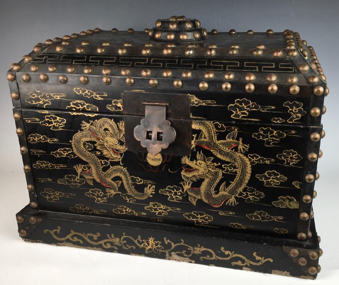 Japanese Chest with Metal Studs C. 1900 - 3