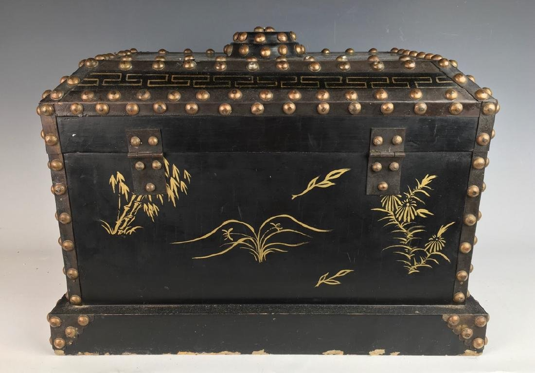 Japanese Chest with Metal Studs C. 1900 - 4