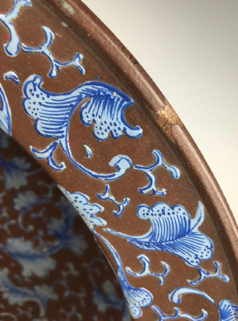 Early Chinese Yixing Pottery Bowl - 6