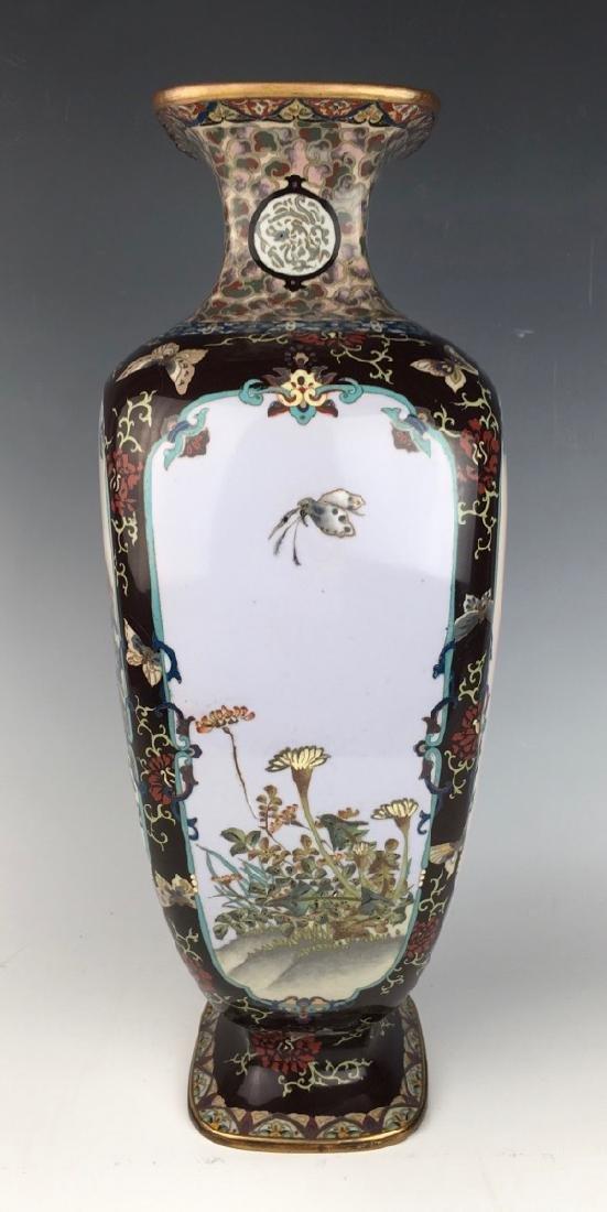 Large Japanese Cloisonne Vase Meiji Period - 2