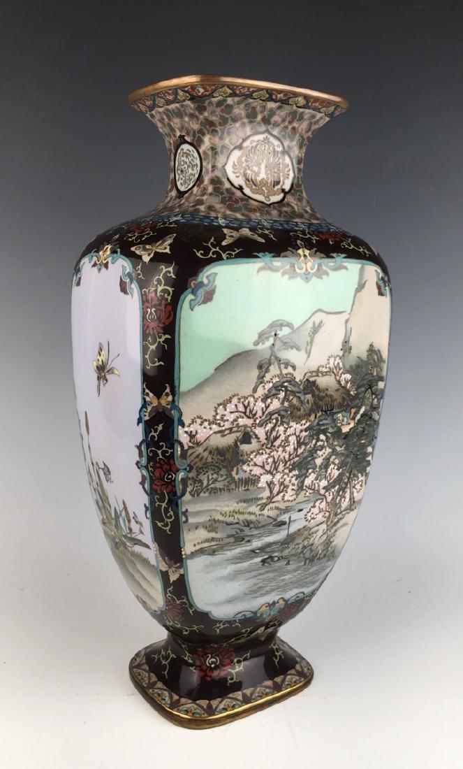 Large Japanese Cloisonne Vase Meiji Period - 3