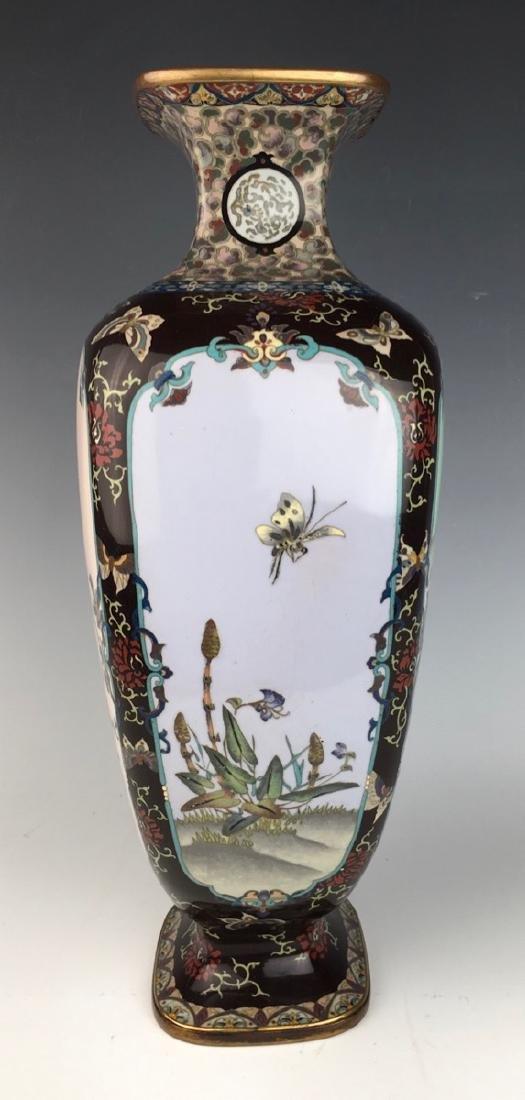 Large Japanese Cloisonne Vase Meiji Period - 4