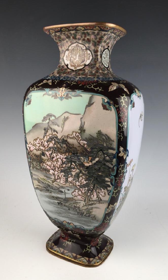 Large Japanese Cloisonne Vase Meiji Period - 5