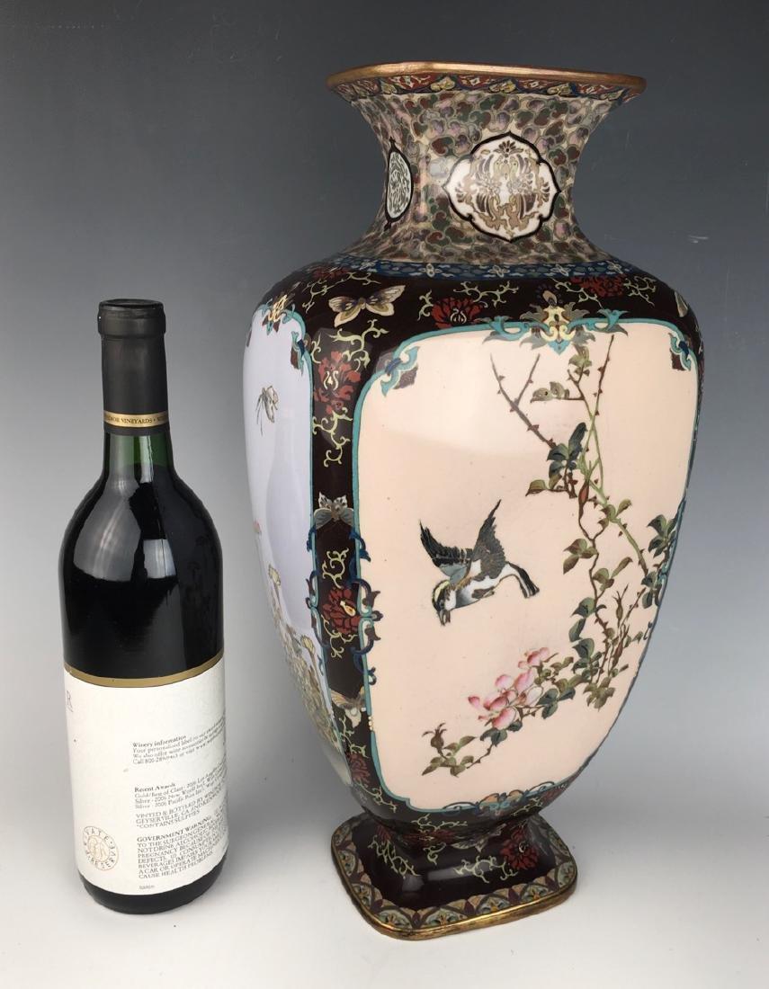 Large Japanese Cloisonne Vase Meiji Period - 7