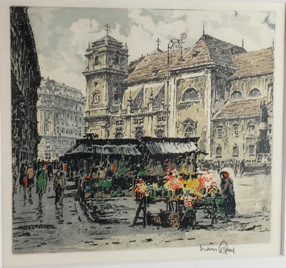 Pair of Signed Colored Etchings - 2