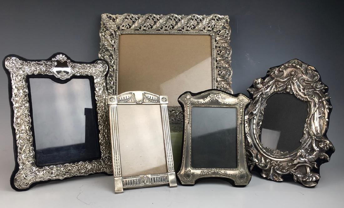 Group of 5 Silverplated Frames