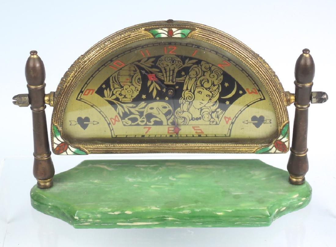 Art Deco Scenic Desk Clock