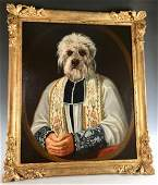 Thierry Poncelet Terrier in Clerics Robe