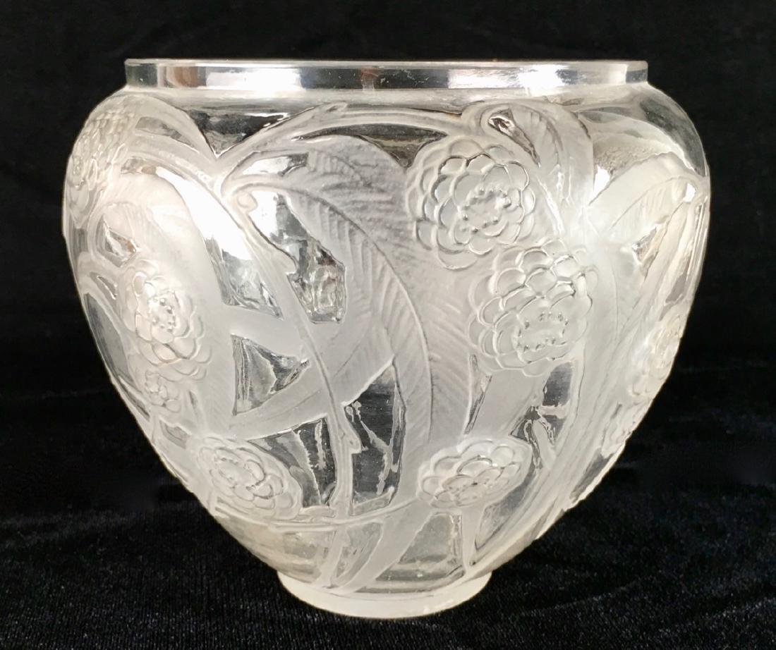 """R. Lalique (1860-1945) """"Medlar"""" Vase"""