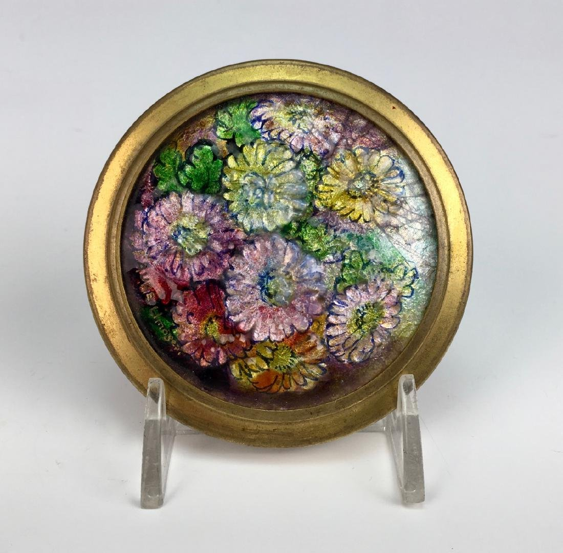 Camille Faure (1875-1956) Enamel Flowers Compact