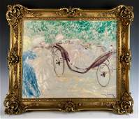 "Original Louis Icart(1888-1950) ""Elegant Carriage"""