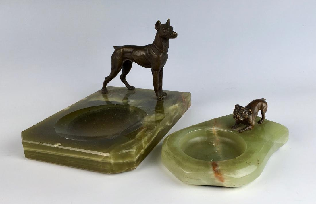 Bronze Boston Terrier & Pinscher Dog Figures