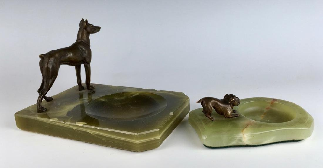 Bronze Boston Terrier & Pinscher Dog Figures - 2