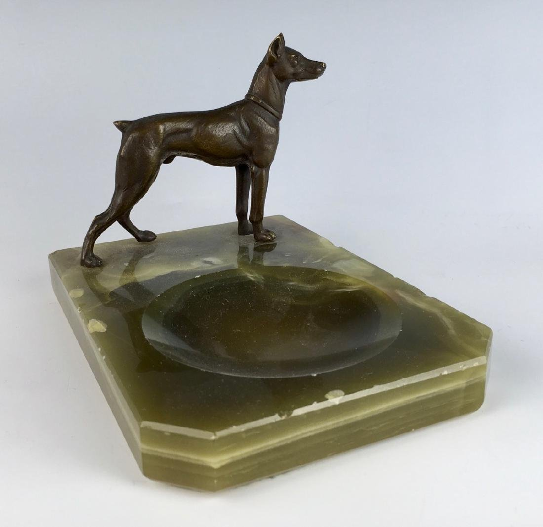 Bronze Boston Terrier & Pinscher Dog Figures - 3
