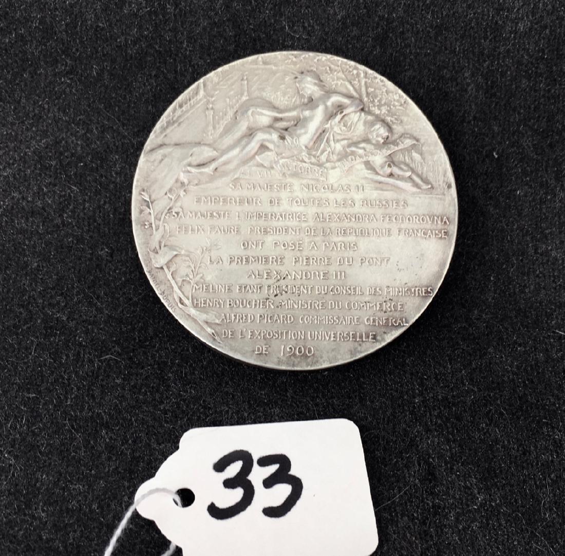 "Russian Silvered Bronze Medal ""Visit of Paris"" - 2"