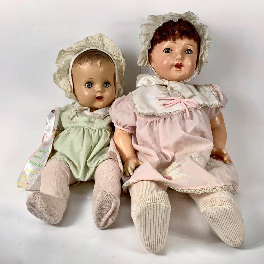 C. 1930's Pair of Vintage Composition Dolls
