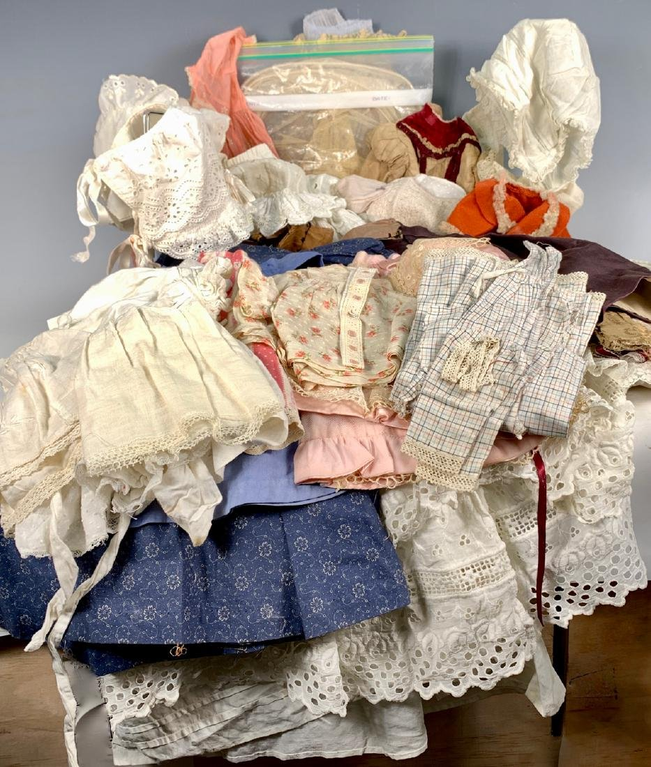35Pcs. Mostly Antique Some & Vintage Doll Clothing