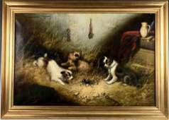 """George Armfield(1808-1893)""""Group of Dogs Ratting"""""""