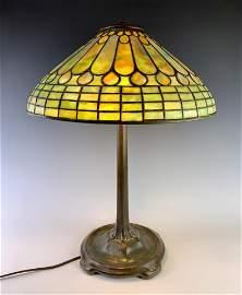 Tiffany Studios Jeweled Feather Table Lamp