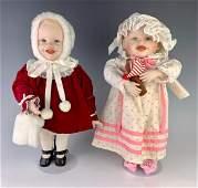 "Lot of Two 14"" Artist Dolls by Yolanda Bello"