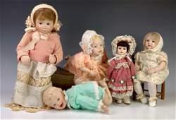 Group of Five Artist Dolls