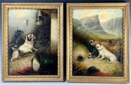 "Pair George Armfield (1810-1893) ""Ratting"""