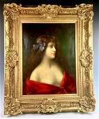 Angelo Asti Italian 18471903 Lady Portrait
