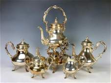 5 Pc Sterling Silver Tea Set Camusso Peru
