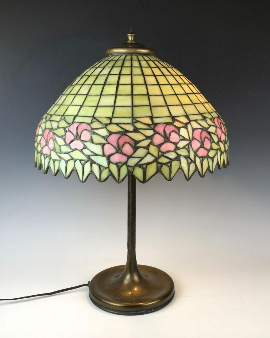 Unique Leaded Glass Table Lamp